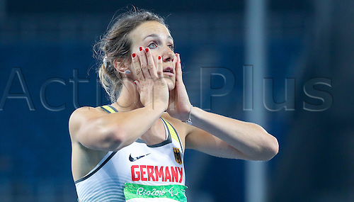 17.09.2016. Rio de Janeiro, Brazil. Irmgard Bensusan of Germany reacts after Women's 100m - T44, Final during the Rio 2016 Paralympic Games, Rio de Janeiro, Brazil, 17 September 2016.