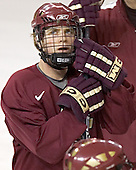 Chris Collins - Boston College's morning skate on Friday, December 30, 2005 at Magness Arena in Denver, Colorado.  Boston College defeated Ferris State that afternoon in a shootout and defeated Princeton the following night to win the Denver Cup.