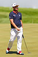 Andy Sullivan at the 18th green during the BMW PGA Golf Championship at Wentworth Golf Course, Wentworth Drive, Virginia Water, England on 26 May 2017. Photo by Steve McCarthy/PRiME Media Images.