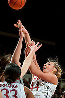 STANFORD, CA-JANUARY 18, 2012 - Joslyn Tinkle looks to score in the first half against the Washington State Cougars.
