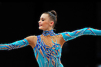 Yana Lukonina of Russia performs at 2010 World Cup at Portimao, Portugal on March 13, 2010.  (Photo by Tom Theobald).