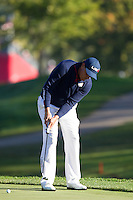 Phil Mickelson (Team USA) on the 8th green during the Saturday morning Foursomes at the Ryder Cup, Hazeltine national Golf Club, Chaska, Minnesota, USA.  01/10/2016<br /> Picture: Golffile | Fran Caffrey<br /> <br /> <br /> All photo usage must carry mandatory copyright credit (&copy; Golffile | Fran Caffrey)