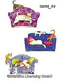 Kate, CUTE ANIMALS, LUSTIGE TIERE, ANIMALITOS DIVERTIDOS, paintings+++++Cats & dogs page 10,GBKM64,#ac#, EVERYDAY ,cat,cats
