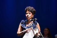 SAO PAULO, SP, 12 DE MARÇO DE 2013. PREMIO APCA.  A Pianista Eudóxia de Barros. recebe o premio de conjunto da carreira  da Associação Paulista dos Criticos de arte. O evento da 57 edição do prêmio dos Melhores do ano da APCA aconteceu na noite desta segunda feira no Teatro  Paulo Autran no Sesc Pinheiros. FOTO ADRIANA SPACA/BRAZIL PHOTO PRESS