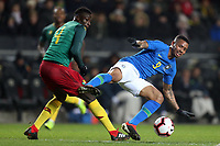 Gabriel Jesus of Brazil and Manchester City and Banana Yaya of Cameroon and Panionios during Brazil vs Cameroon, International Friendly Match Football at stadium:mk on 20th November 2018