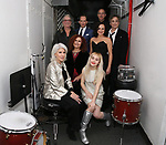 Jamie deRoy, Ron Abel, Melissa Manchester, Stephen Carile, Sophia Anne Caruso, Sally Ann Triplett, Tom Hubbard and Sidney Myer backstage at 'Tis The Season Jamie deRoy & Friends Holiday Show' at the Birdland on December 11, 2017 in New York City.