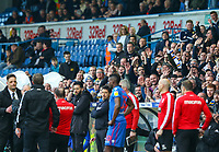 Leeds United fans goad Bolton Wanderers manager Phil Parkinson as he is sent from the field<br /> <br /> Photographer Alex Dodd/CameraSport<br /> <br /> The EFL Sky Bet Championship - Leeds United v Bolton Wanderers - Saturday 23rd February 2019 - Elland Road - Leeds<br /> <br /> World Copyright © 2019 CameraSport. All rights reserved. 43 Linden Ave. Countesthorpe. Leicester. England. LE8 5PG - Tel: +44 (0) 116 277 4147 - admin@camerasport.com - www.camerasport.com