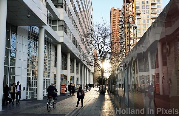 Nederland - Den Haag-  2018.  Straatbeeld Den Haag Centrum. Het Wijnhavenkwartier.   Foto Berlinda van Dam / Hollandse Hoogte