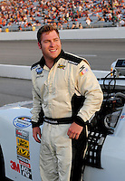 May 2, 2008; Richmond, VA, USA; NASCAR Nationwide Series driver Robert Richardson during the Lipton Tea 250 at the Richmond International Raceway. Mandatory Credit: Mark J. Rebilas-