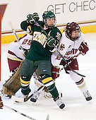 Brittany Nelson (Vermont - 16), Shannon Webster (BC - 12) - The University of Vermont Catamounts defeated the Boston College Eagles 5-1 on Saturday, November 7, 2009, at Conte Forum in Chestnut Hill, Massachusetts.