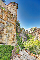 The lift of Varlaam Monastery in the Meteora Monastery complex in Greece.