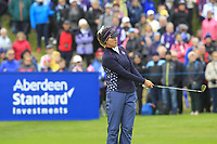 Annie Park (USA) on the 1st during Day 3 Singles at the Solheim Cup 2019, Gleneagles Golf CLub, Auchterarder, Perthshire, Scotland. 15/09/2019.<br /> Picture Thos Caffrey / Golffile.ie<br /> <br /> All photo usage must carry mandatory copyright credit (© Golffile | Thos Caffrey)