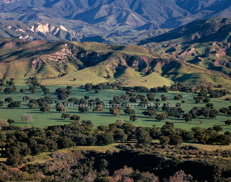 """Santa Ynez Valley, from San Marcos Pass, Santa Ynez Mountains"