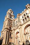 Baroque architecture exterior of the cathedral church of Malaga city, Spain - Santa Iglesia Catedral Basílica de la Encarnación