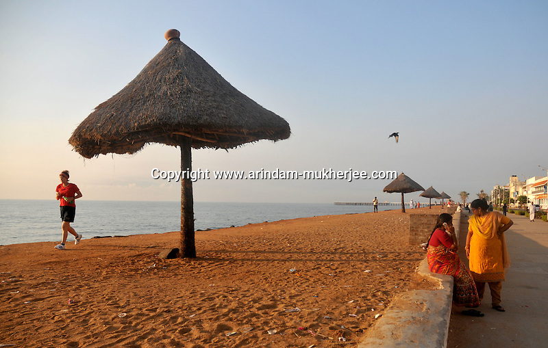 An early morning at the beach of Pondicherry.Arindam Mukherjee/Sipa