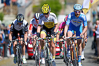 2016 La Fleche Wallonne<br /> Huy, Belgium<br /> 20 April 2016<br /> Koen Bouwman, Lotto-Jumbo, Quentin Pacher, Delko Marseille Provence KTM