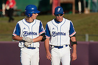 31 July 2010: Fabien Proust of Team France is seen next to Luc Piquet during the Greece 14-5 win over France, at the 2010 European Championship, in Heidenheim, Germany.