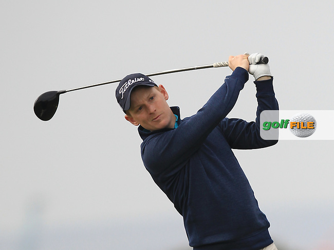 Geoff Lenehan (Portmarnock) on the 3rd tee during Round 2 of the Flogas Irish Amateur Open Championship at Royal Dublin on Friday 6th May 2016.<br /> Picture:  Thos Caffrey / www.golffile.ie