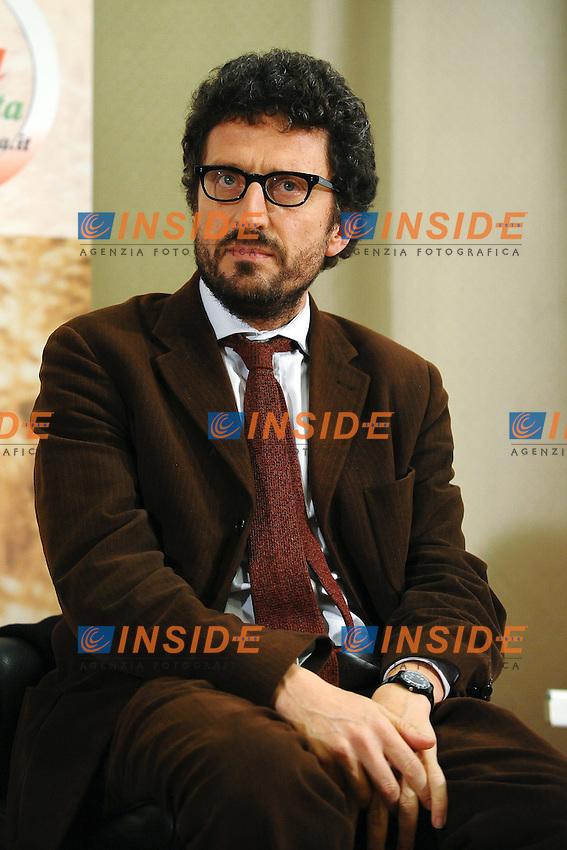 """Pietrangelo Buttafuoco.Pomezia (Roma) 2/12/2011 Hotel Antonella.Presentazione del Libro """"La Mafia Uccide d'Estate"""".Foto Insidefoto Andrea Staccioli"""