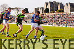 Michael Geaney Kerry in action against Keith Higgins Mayo in the first round of the National Football League at Fitzgerald Stadium Killarney on Sunday.
