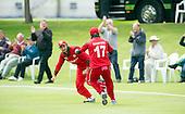 ICC World T20 Qualifier - GROUP B MATCH - Afghanistan v Oman at Heriots CC, Edinburgh - Mehran Khan turns to celebrate the final wicket as Oman win — credit @ICC/Donald MacLeod - 15.07.15 - 07702 319 738 -clanmacleod@btinternet.com - www.donald-macleod.com