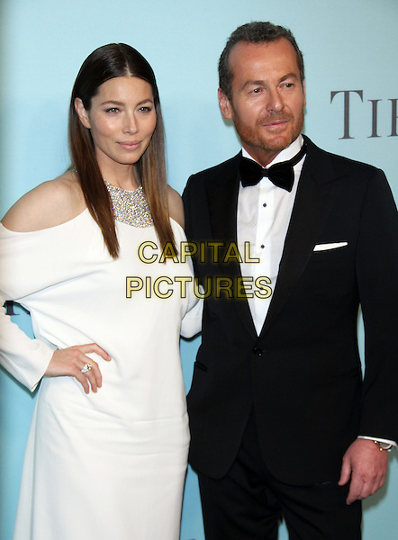 04 15,  2016: Jessica Biel, Frederic Cumenalat TIFFANY &amp;  CO. 2016 BLUE BOOK at the Cunard Building in New York, USA April 15, 2016,<br /> CAP/MPI/RW<br /> &copy;RW/MPI/Capital Pictures