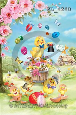 Interlitho, Patricia, EASTER, paintings, ducks, flying eggs(KL4240,#E#) Ostern, Pacua, illustrations, pinturas