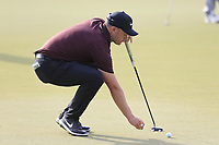 Tom Lewis (ENG) on the 15th green during the 2nd round of the DP World Tour Championship, Jumeirah Golf Estates, Dubai, United Arab Emirates. 16/11/2018<br /> Picture: Golffile | Fran Caffrey<br /> <br /> <br /> All photo usage must carry mandatory copyright credit (© Golffile | Fran Caffrey)