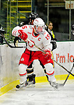 2 January 2011: Ohio State University Buckeye forward John Albert, a Senior from  Concord, Ohio, in action against the Army Black Knights at Gutterson Fieldhouse in Burlington, Vermont. The Buckeyes defeated the Black Knights 5-3 to win the 2010-2011 Catamount Cup. Mandatory Credit: Ed Wolfstein Photo