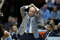 CHAPEL HILL, NC - FEBRUARY 1: Head coach Roy Williams of the University of North Carolina reacts to a turnover during a game between Boston College and North Carolina at Dean E. Smith Center on February 1, 2020 in Chapel Hill, North Carolina.