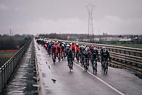 peloton crossing the Po river<br /> <br /> 109th Milano-Sanremo 2018<br /> Milano &gt; Sanremo (291km)
