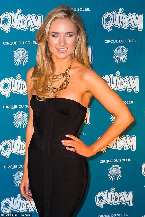 Kimberley Garner attends the VIP night for Cirque Du Soleil: Quidam at the Royal Albert Hall on January 7, 2014 in London, England. Photo by Vickie Flores.
