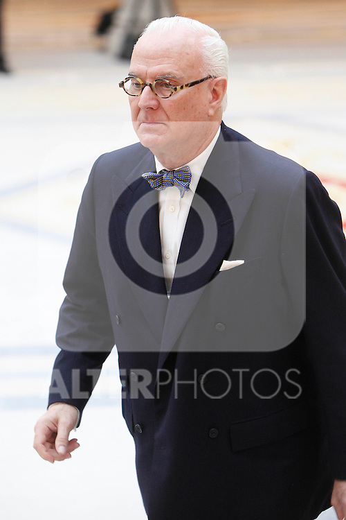 Manolo Blahnik attend the National Awards of Culture 2011 and 2012 at Palacio de El Pardo. February 19, 2013. (ALTERPHOTOS/Caro Marin)