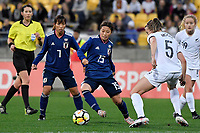 Japan&rsquo;s Moeno Sakaguchi in action during the  International Football - Football Ferns v Japan  at Westpac Stadium, Wellington, New Zealand on Sunday 10 June 2018.<br /> Photo by Masanori Udagawa. <br /> www.photowellington.photoshelter.com