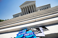 Signs are left behind by Pro-Life activists after a rally outside the United States Supreme Court in Washington D.C., U.S., on Monday, June 29, 2020.  The Court delivered a 5-4 ruling blocking a restrictive abortion law in Louisiana Monday morning.  Credit: Stefani Reynolds / CNP /MediaPunch