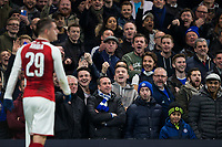 Chelsea fans jeer at Arsenal's Granit Xhaka as he takes a corner <br /> <br /> Photographer Craig Mercer/CameraSport<br /> <br /> The Carabao Cup - Semi-Final 1st Leg - Chelsea v Arsenal - Wednesday 10th January 2018 - Stamford Bridge - London<br />  <br /> World Copyright &copy; 2018 CameraSport. All rights reserved. 43 Linden Ave. Countesthorpe. Leicester. England. LE8 5PG - Tel: +44 (0) 116 277 4147 - admin@camerasport.com - www.camerasport.com