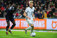 Sam Surridge of Swansea City in action during the Sky Bet Championship match between Swansea City and Barnsley at the Liberty Stadium in Swansea, Wales, UK. Sunday 29 December 2019