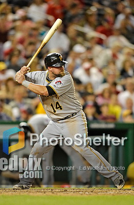 17 May 2012: Pittsburgh Pirates infielder Casey McGehee in action against the Washington Nationals at Nationals Park in Washington, DC. The Pirates defeated the Nationals 5-3 in the second game of their 2-game series. Mandatory Credit: Ed Wolfstein Photo