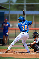 GCL Mets third baseman Cristopher Pujols (72) at bat during a game against the GCL Marlins on August 3, 2018 at St. Lucie Sports Complex in Port St. Lucie, Florida.  GCL Mets defeated GCL Marlins 3-2.  (Mike Janes/Four Seam Images)