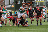 Elliot Millar Mills of Ealing Trailfinders during the Friendly match between Ealing Trailfinders and Dragons  at Castle Bar , West Ealing , England  on 11 August 2018. Photo by David Horn / PRiME Media Images.