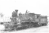 Fireman's-side 3/4 view of RGS 2-8-0 #40.<br /> RGS