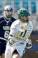 February 20, 2011:  Jacksonville Dolphins defender Jake Ziegler (11) during Lacrosse action between the Georgetown Hoyas and Jacksonville Dolphins during the Moe's Southwest SunShine Classic played at EverBank Field in Jacksonville, Florida.  Georgetown defeated Jacksonville 14-11.