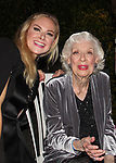 "Laura Bell Bundy - Trixie Norton poses with Joyce Randolph - original Trixie Kramden stars in The Honeymooners as ""Trixie "" Norton"" and on October 8, 2017 was opening night at the Paper Mill Playhouse in Millburn, NJ. (Photo by Sue Coflin/Max Photos)"