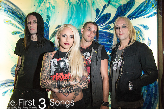 Mixi, Decker, Merritt, Randy, and Dorian of Stitched Up Heart at the 2016 ShipRocked Cruise. ShipRocked set sail January 18-22, 2016, from Miami to Costa Maya, Mexico on the Norwegian Pearl.