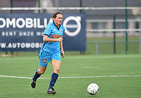 20191005  -  Diksmuide , BELGIUM : FWDM's Sarah Verschaeve pictured during a footballgame between the womensoccer teams from Famkes Westhoek Diksmuide Merkem and KV Mechelen Ladies A , on the 5th matchday in the first division , 1e nationale , in Diksmuide - Belgium - saturday 5th october 2019 . PHOTO DAVID CATRY   Sportpix.be