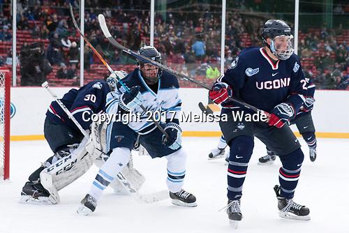 Adam Huska (UConn - 30), Brendan Robbins (Maine - 22), Wyatt Newpower (UConn - 20) - The University of Maine Black Bears defeated the University of Connecticut Huskies 4-0 at Fenway Park on Saturday, January 14, 2017, in Boston, Massachusetts.