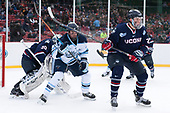 Adam Huska (UConn - 30), Brendan Robbins (Maine - 22), Wyatt Newpower (UConn - 20) - The University of Maine Black Bears defeated the University of Connecticut Huskies 4-0 at Fenway Park on Saturday, January 14, 2017, in Boston, Massachusetts.