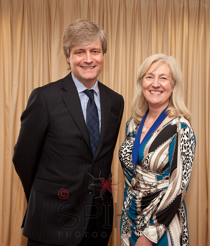 Alex Gourlay, chief executive of Alliance Boots with Club President Dianne Allen