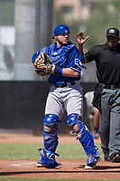 Texas Rangers catcher Matt Whatley (64) during an Instructional League game against the San Diego Padres on September 20, 2017 at Peoria Sports Complex in Peoria, Arizona. (Zachary Lucy/Four Seam Images)