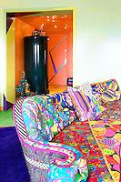 cotton print sofa